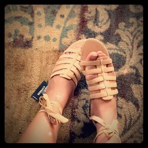 Express Size 9 Sandals with Ankle Tie